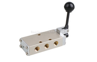 Hand Lever Pneumatic Directional Control Valve Five Way PT1/4""