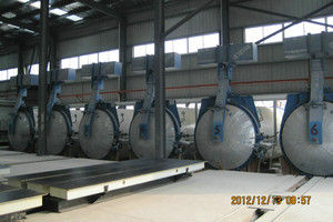 Chemical Industrial Concrete AAC Autoclave Pressure Vessel With Saturated Steam